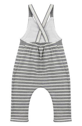 Детский хлопковый комбинезон ALETTA серого цвета, арт. RW999243/1M-2A | Фото 2