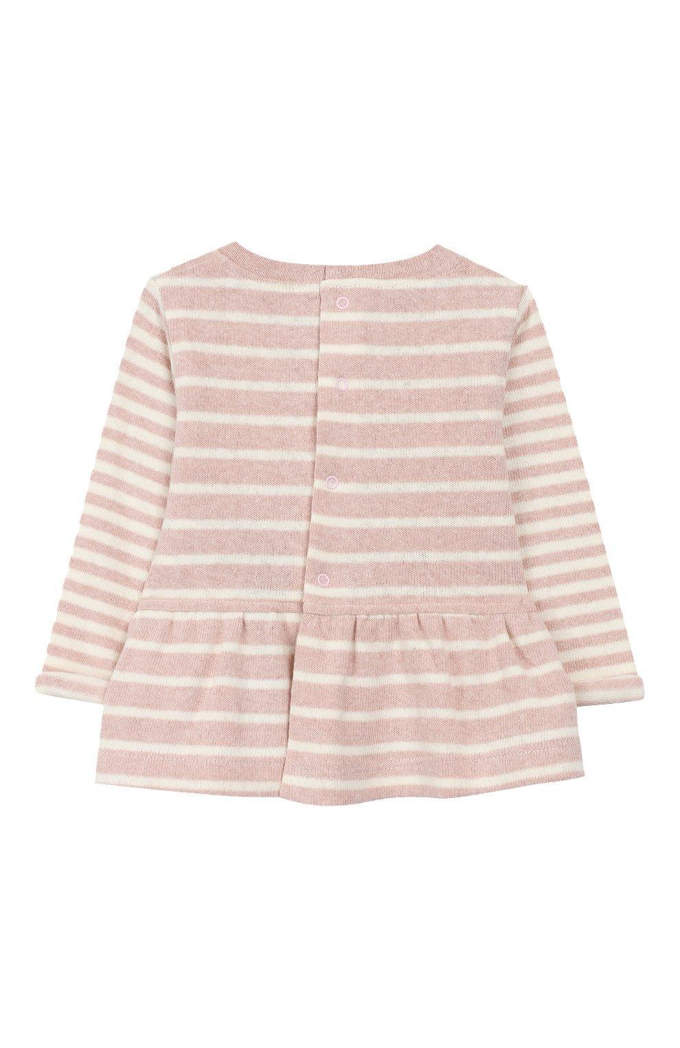 Детский хлопковый пуловер ALETTA розового цвета, арт. RW999248/1M-2A | Фото 2