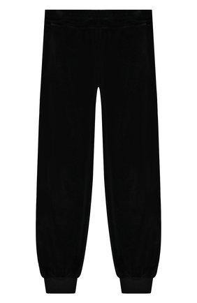 Детского хлопковые джоггеры BALMAIN черного цвета, арт. 6L6540/LC680/12-16 | Фото 2