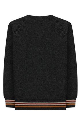 Детский кашемировый пуловер LORO PIANA темно-серого цвета, арт. FAI7741 | Фото 2