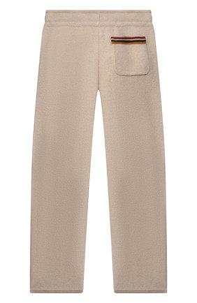 Детского кашемировые брюки LORO PIANA бежевого цвета, арт. FAI7737 | Фото 2