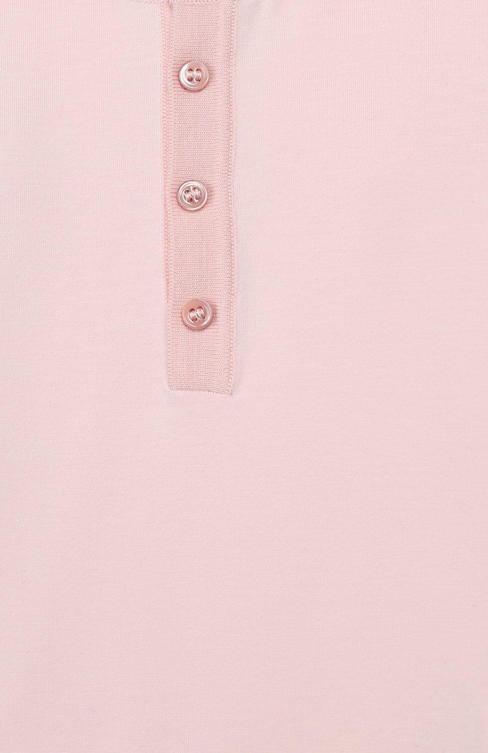 Детское хлопковое боди LORO PIANA светло-розового цвета, арт. FAI7577   Фото 3