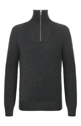 Мужской свитер из смеси шерсти и кашемира BERLUTI серого цвета, арт. R16KHL69-001 | Фото 1