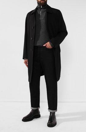 Мужской свитер из смеси шерсти и кашемира BERLUTI серого цвета, арт. R16KHL69-001 | Фото 2