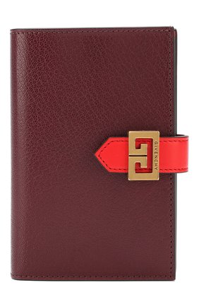 Женские кожаный кошелек gv3 GIVENCHY бордового цвета, арт. BB601GB056 | Фото 1
