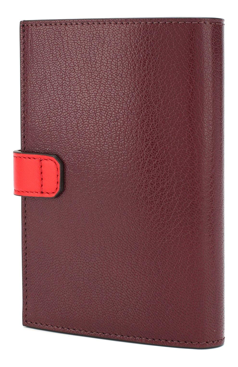 Женские кожаный кошелек gv3 GIVENCHY бордового цвета, арт. BB601GB056 | Фото 2