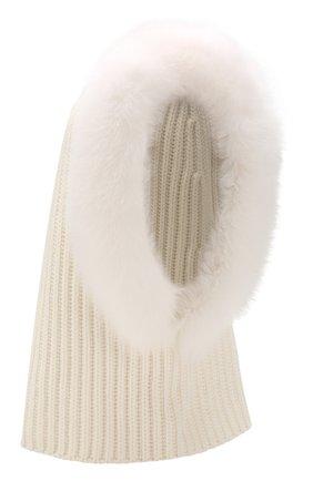 Женский кашемировый капюшон cagoule LORO PIANA белого цвета, арт. FAI3481 | Фото 1