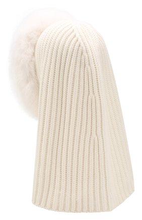 Женский кашемировый капюшон cagoule LORO PIANA белого цвета, арт. FAI3481 | Фото 2