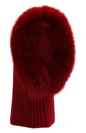 Женский кашемировый капюшон cagoule LORO PIANA красного цвета, арт. FAI3481 | Фото 1