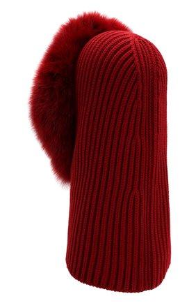 Женский кашемировый капюшон cagoule LORO PIANA красного цвета, арт. FAI3481 | Фото 2