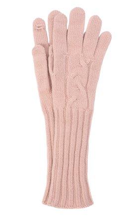 Женские кашемировые перчатки courchevel LORO PIANA розового цвета, арт. FAI8570 | Фото 1