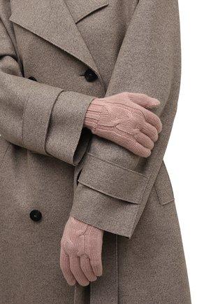 Женские кашемировые перчатки courchevel LORO PIANA розового цвета, арт. FAI8570 | Фото 2