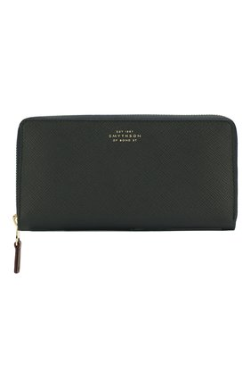Женские кожаный кошелек SMYTHSON темно-синего цвета, арт. 1012866   Фото 1