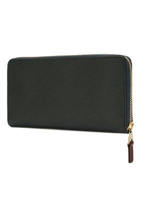 Женские кожаный кошелек SMYTHSON темно-синего цвета, арт. 1012866   Фото 2