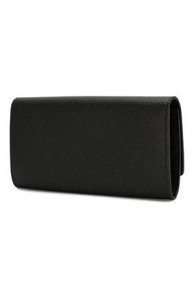 Женские кожаный кошелек SMYTHSON черного цвета, арт. 1024560   Фото 2