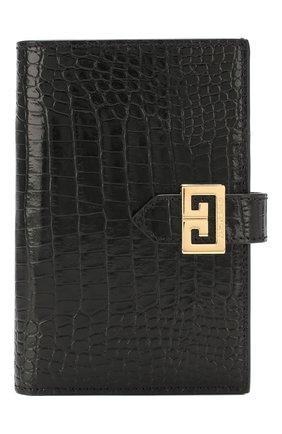 Женские кожаный кошелек gv3 GIVENCHY черного цвета, арт. BB601GB0LK | Фото 1