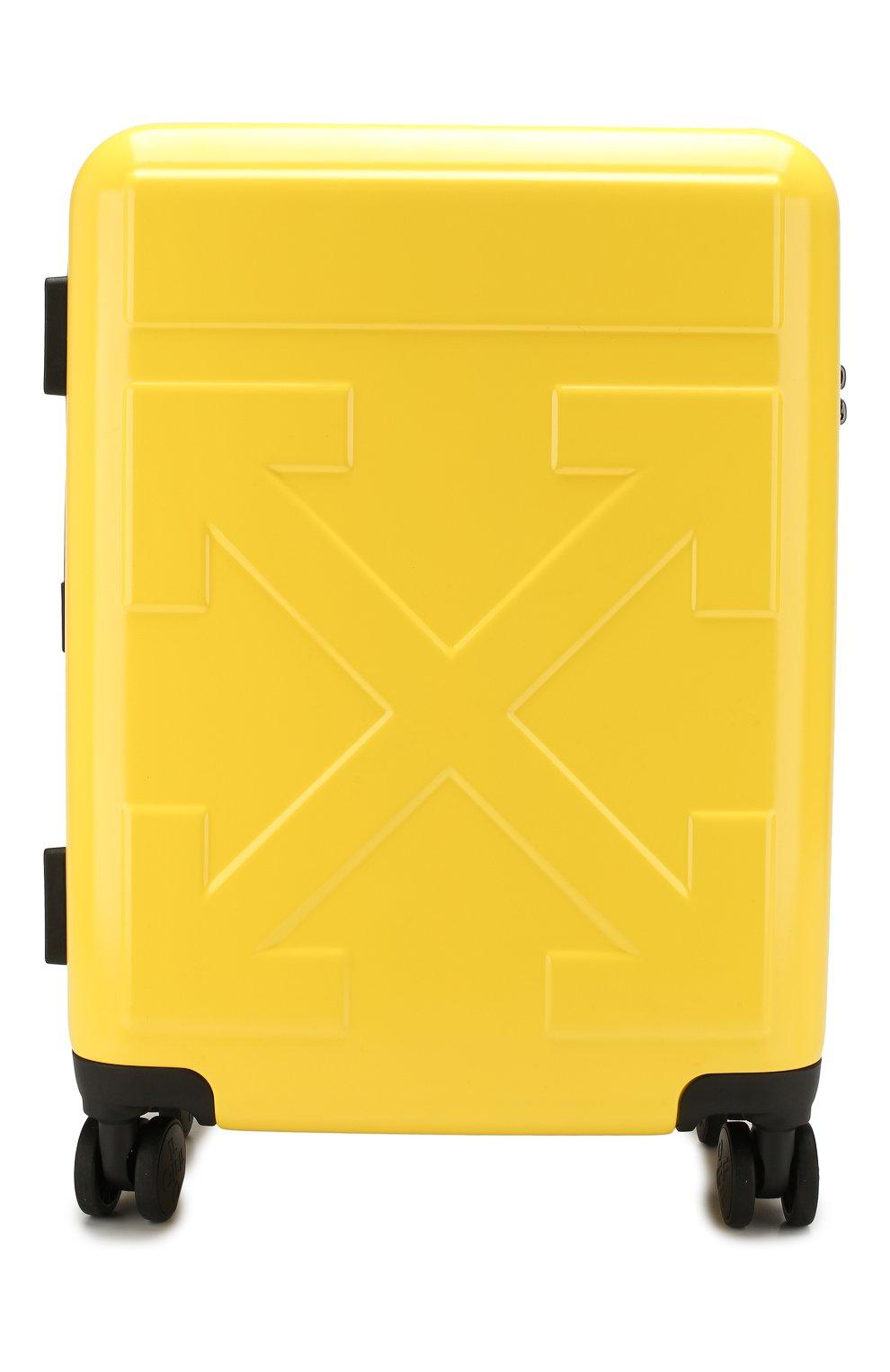 Женский дорожный чемодан OFF-WHITE желтого цвета, арт. 0WNG001E19F611176060 | Фото 1