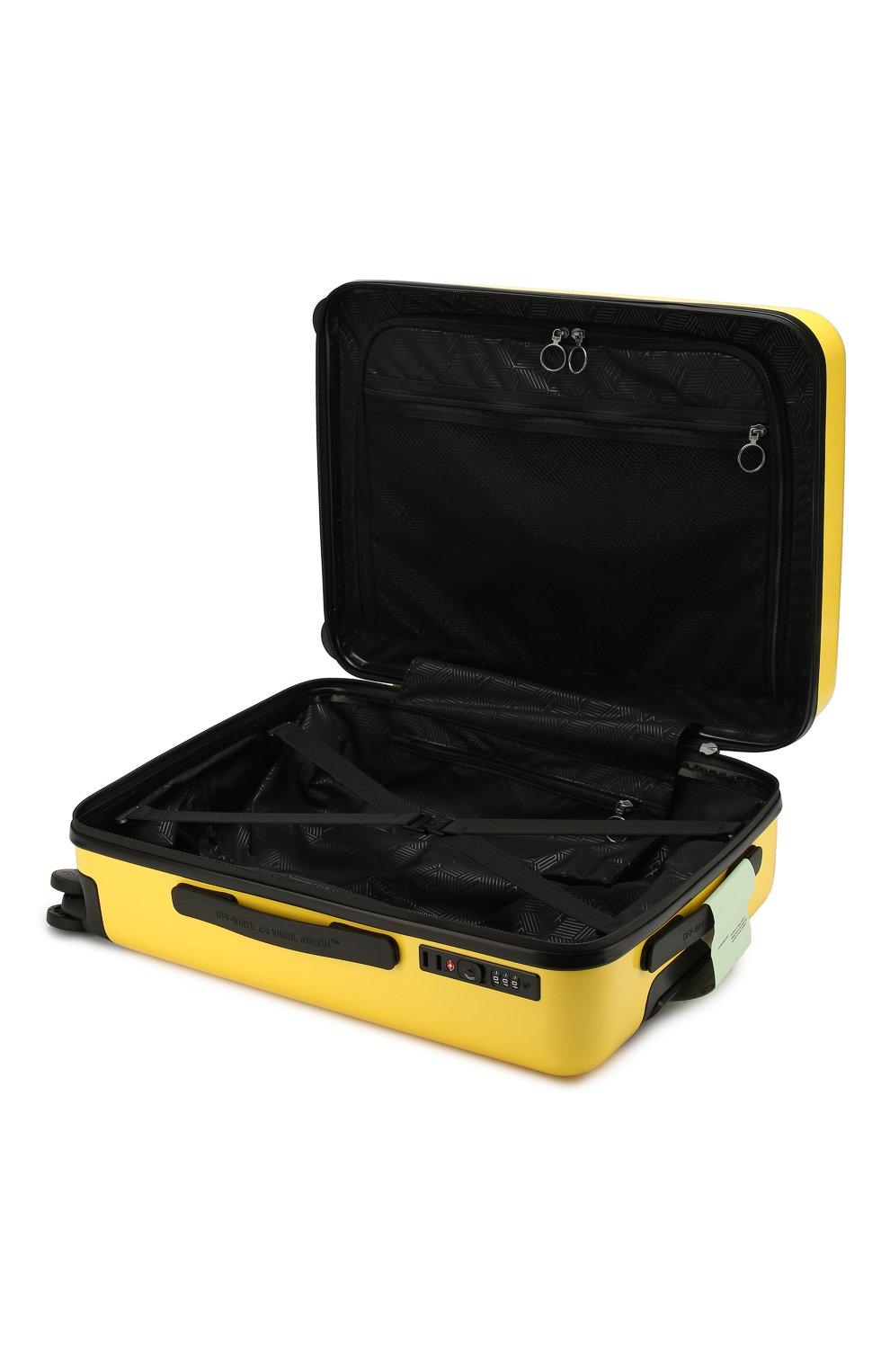 Женский дорожный чемодан OFF-WHITE желтого цвета, арт. 0WNG001E19F611176060 | Фото 3