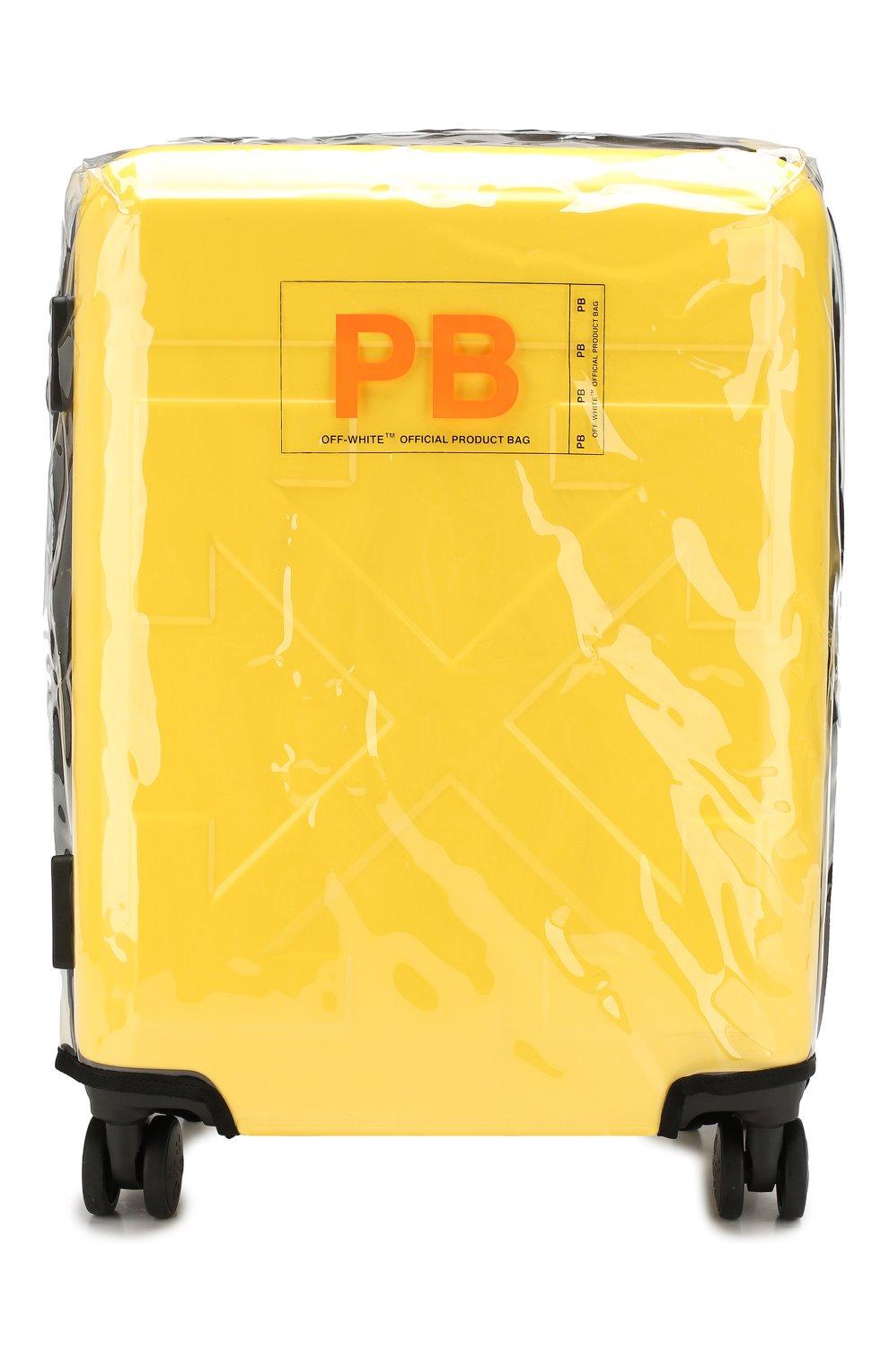 Женский дорожный чемодан OFF-WHITE желтого цвета, арт. 0WNG001E19F611176060 | Фото 5