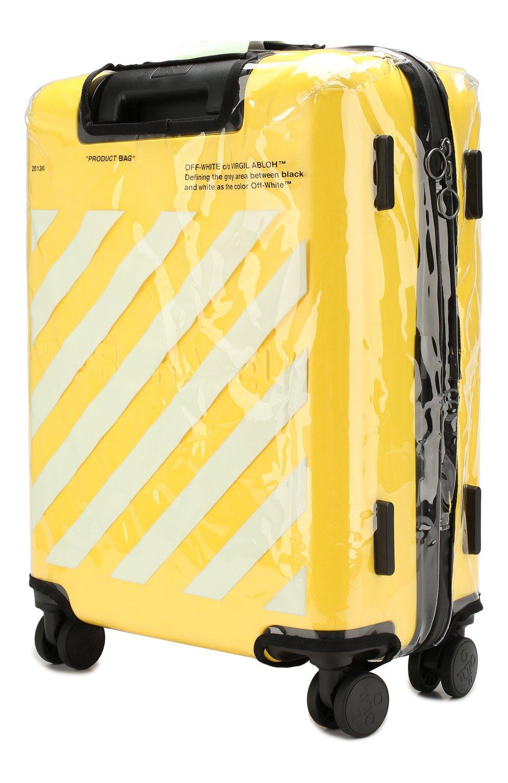 Женский дорожный чемодан OFF-WHITE желтого цвета, арт. 0WNG001E19F611176060 | Фото 6