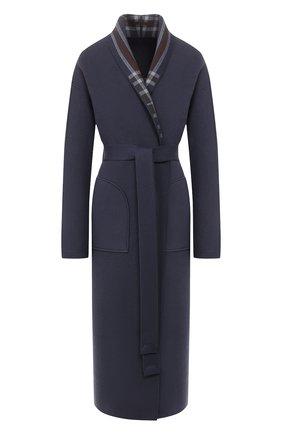 Женское кашемировое пальто LORO PIANA синего цвета, арт. FAI6702 | Фото 1