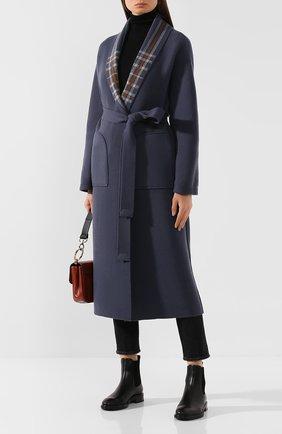 Женское кашемировое пальто LORO PIANA синего цвета, арт. FAI6702 | Фото 2