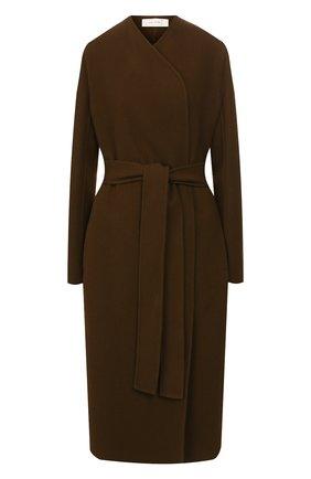 Женское пальто из смеси шерсти и кашемира THE ROW хаки цвета, арт. 4568W1439 | Фото 1
