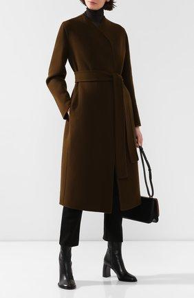 Женское пальто из смеси шерсти и кашемира THE ROW хаки цвета, арт. 4568W1439 | Фото 2
