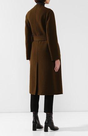 Женское пальто из смеси шерсти и кашемира THE ROW хаки цвета, арт. 4568W1439 | Фото 4