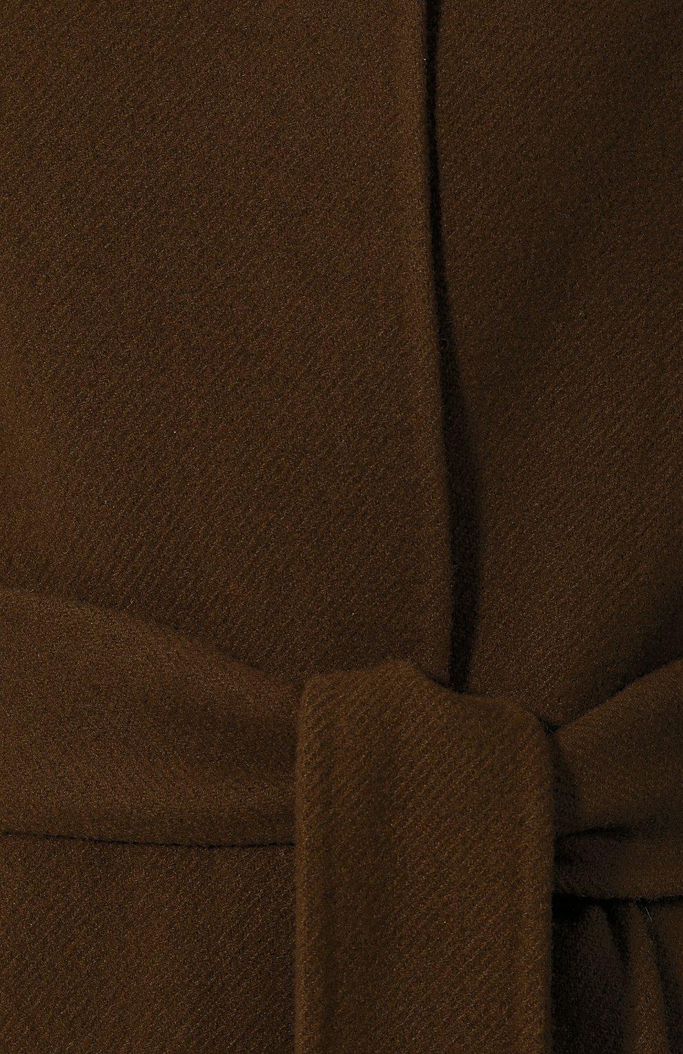 Женское пальто из смеси шерсти и кашемира THE ROW хаки цвета, арт. 4568W1439 | Фото 5