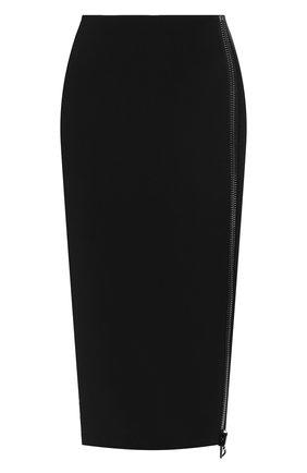 Женская юбка из вискозы TOM FORD черного цвета, арт. GC5444-FAX459 | Фото 1