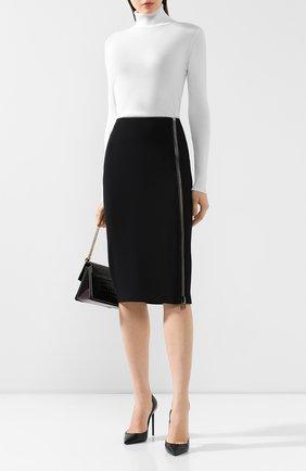 Женская юбка из вискозы TOM FORD черного цвета, арт. GC5444-FAX459 | Фото 2