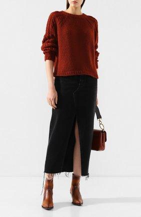 Женский шерстяной свитер FORTE_FORTE красного цвета, арт. 6838 | Фото 2