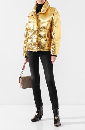 Женский пуховая куртка GOLDEN GOOSE DELUXE BRAND золотого цвета, арт. G35WP169.A2 | Фото 2