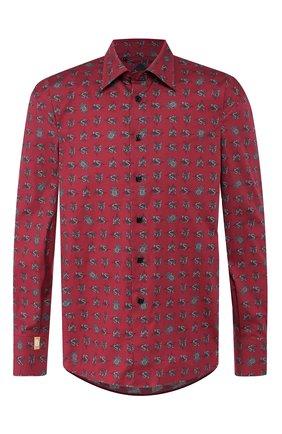 Мужская хлопковая сорочка BILLIONAIRE бордового цвета, арт. MRP1050 | Фото 1