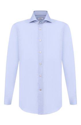 Мужская хлопковая сорочка KITON голубого цвета, арт. UCID/H003103 | Фото 1