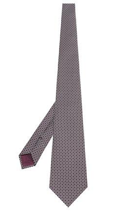Мужской шелковый галстук BRIONI темно-серого цвета, арт. 062H00/08475 | Фото 2