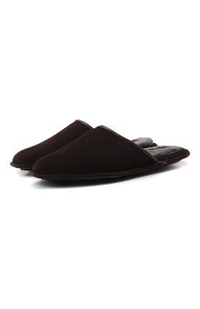 Мужского замшевые домашние туфли HOMERS AT HOME коричневого цвета, арт. 13567/ANTE | Фото 1