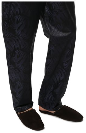 Мужского замшевые домашние туфли HOMERS AT HOME коричневого цвета, арт. 13567/ANTE | Фото 3