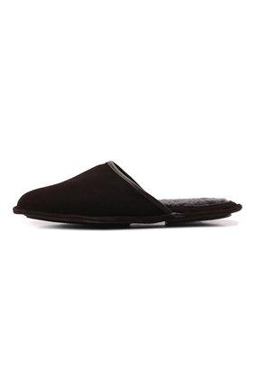 Мужского замшевые домашние туфли HOMERS AT HOME коричневого цвета, арт. 13567/ANTE | Фото 4