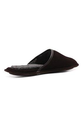 Мужского замшевые домашние туфли HOMERS AT HOME коричневого цвета, арт. 13567/ANTE | Фото 5