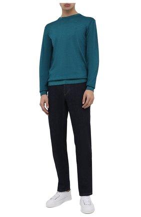 Мужской шерстяной джемпер DANIELE FIESOLI зеленого цвета, арт. DF 0002/T | Фото 2