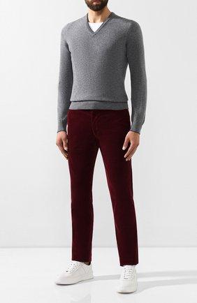 Мужской хлопковые брюки POLO RALPH LAUREN бордового цвета, арт. 710722642 | Фото 2