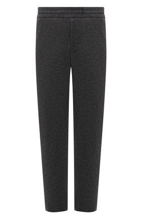 Мужские шерстяные брюки HARRIS WHARF LONDON серого цвета, арт. C7015MYM | Фото 1 (Материал внешний: Шерсть; Статус проверки: Проверено, Проверена категория; Длина (брюки, джинсы): Стандартные; Мужское Кросс-КТ: Брюки-трикотаж; Случай: Повседневный)