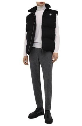 Мужские шерстяные брюки HARRIS WHARF LONDON серого цвета, арт. C7015MYM | Фото 2 (Материал внешний: Шерсть; Статус проверки: Проверено, Проверена категория; Длина (брюки, джинсы): Стандартные; Мужское Кросс-КТ: Брюки-трикотаж; Случай: Повседневный)