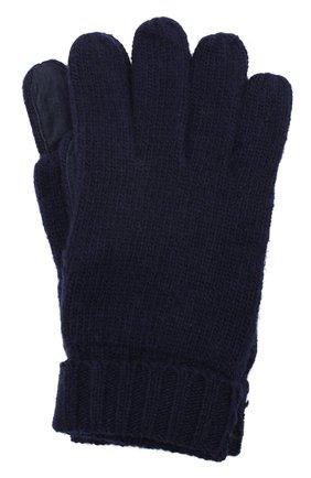 Мужские кашемировые перчатки DENTS темно-синего цвета, арт. 5-4522 | Фото 1