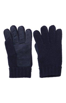 Мужские кашемировые перчатки DENTS темно-синего цвета, арт. 5-4522 | Фото 2