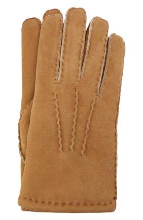Мужские замшевые перчатки DENTS бежевого цвета, арт. 5-1553 | Фото 1
