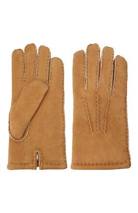 Мужские замшевые перчатки DENTS бежевого цвета, арт. 5-1553 | Фото 2