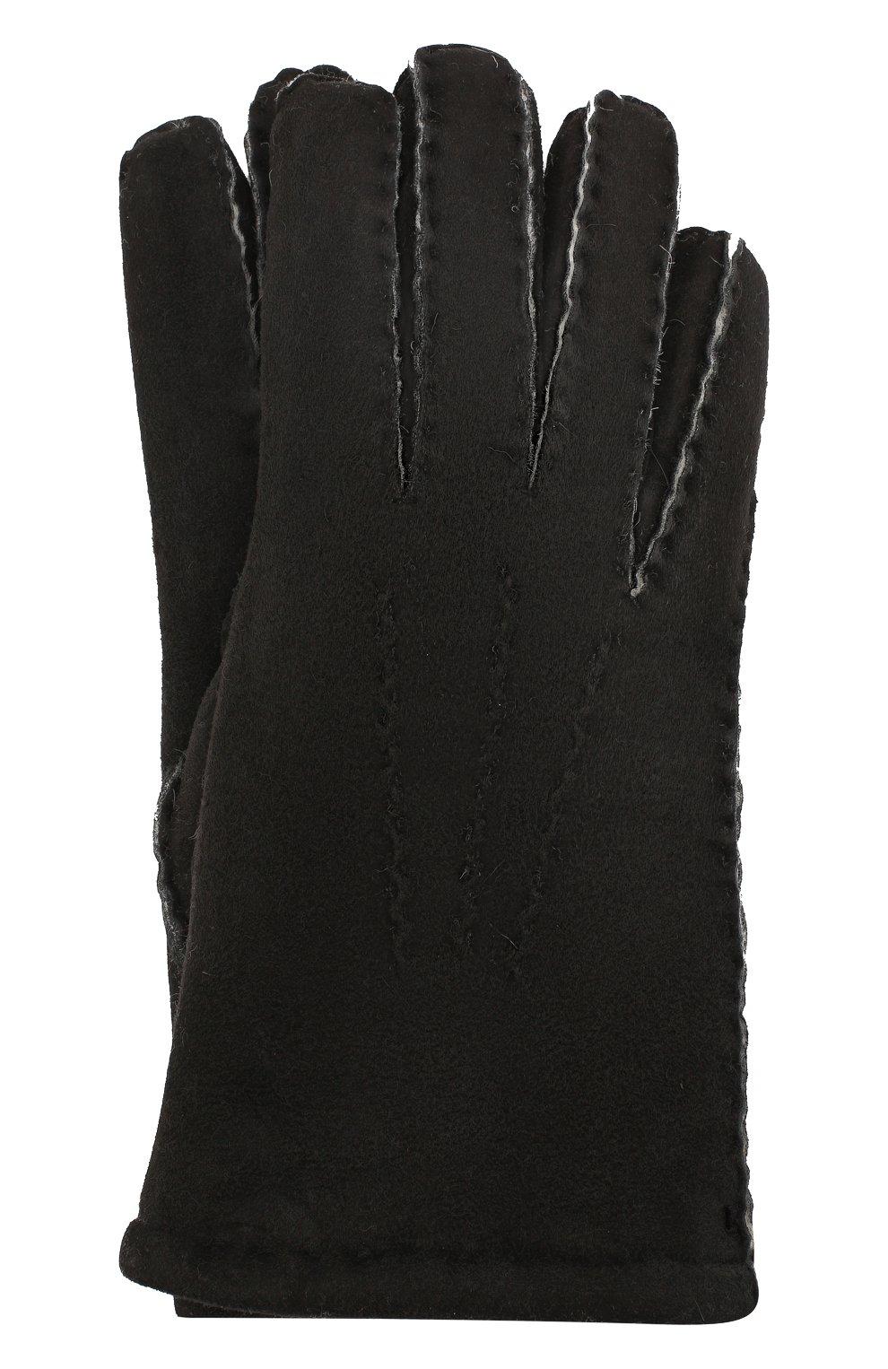 Мужские замшевые перчатки DENTS черного цвета, арт. 5-1553   Фото 1
